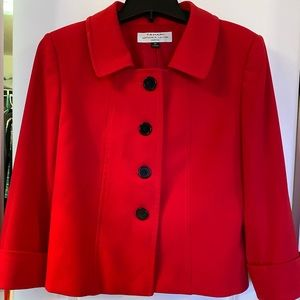 Tahari Red Suit jacket- 8P